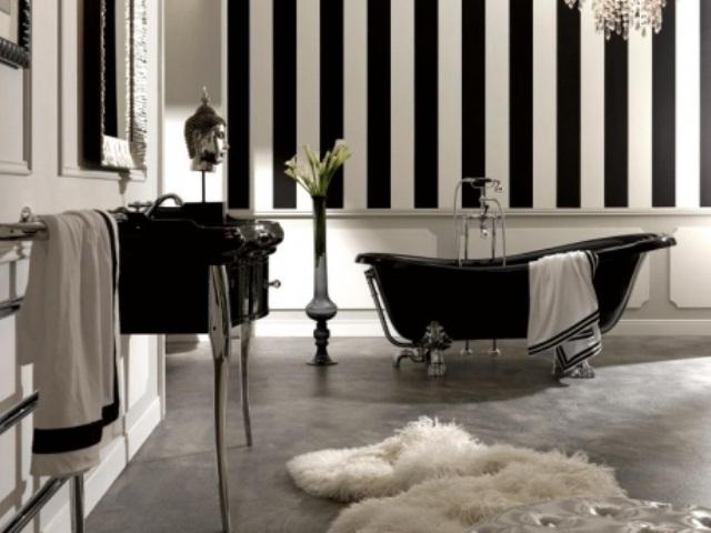 azienka w stylu retro w. Black Bedroom Furniture Sets. Home Design Ideas