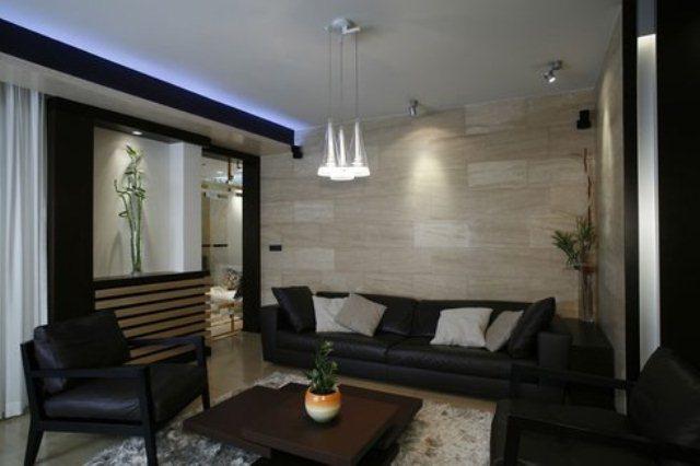 Aran acja sufitu w for Sufit podwieszany w salonie