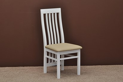 Krzesło K14 - 4szt, kolor biały, tapicerka plamoodporna