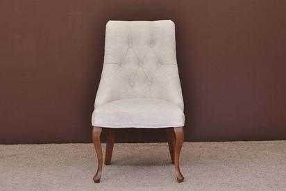 Krzesło Pikowane Ludwik - 2szt, kolor kasztan, tapicerka plamoodporna
