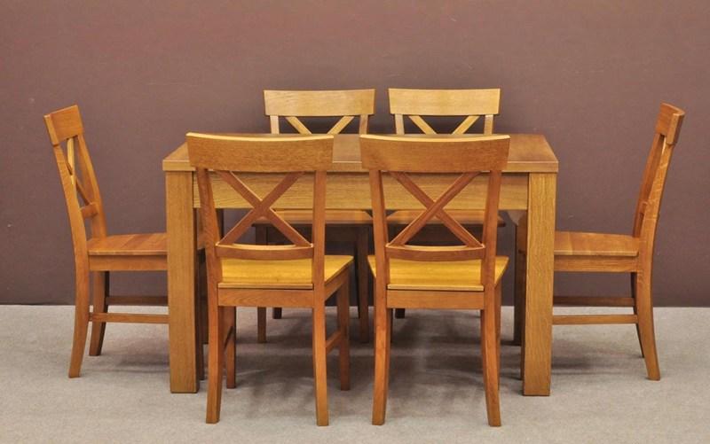 1. Zestaw stół i krzesła dębowe Z212 • .pl